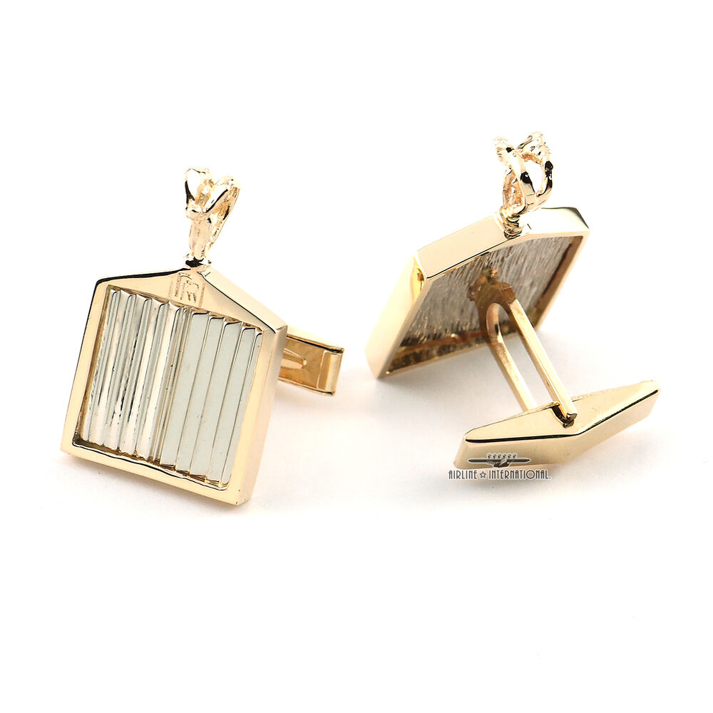 Rolls Royce Solid 18k Gold Cufflinks And Tie Tack One Of