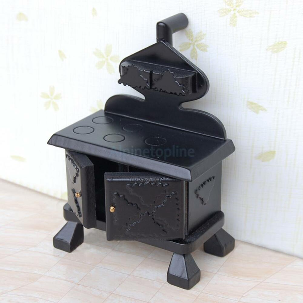 Vintage wooden miniature kitchen stove cooker for