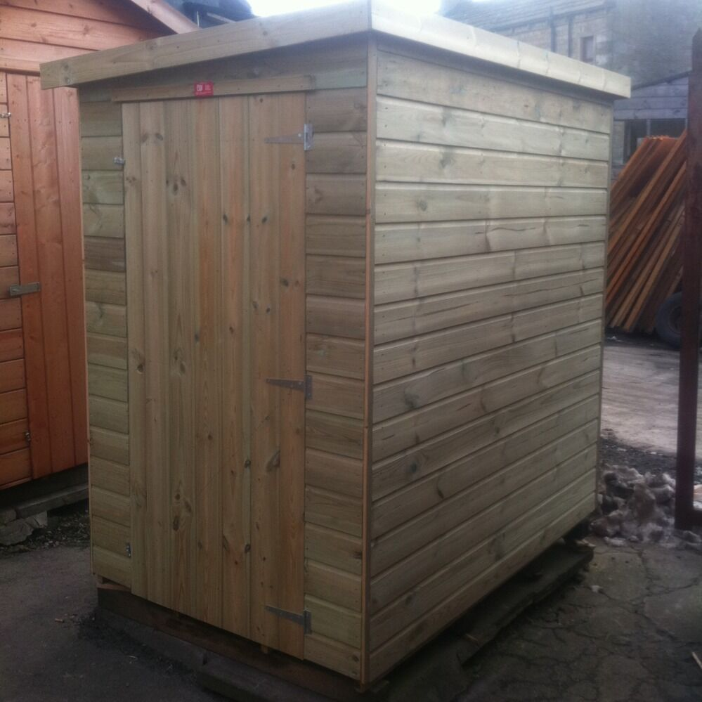 7x6 garden shed pent roof pressure treated store tanalised for Garden shed 7x6