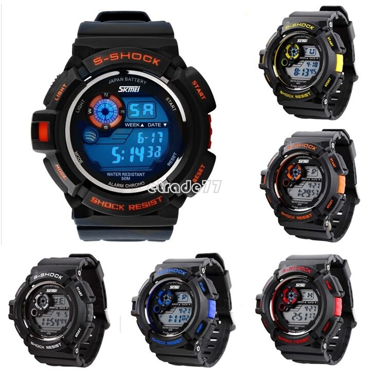Waterproof Outdoor Sports Men Digital LED Alarm Wrist Dive Watch Cheap EA77 New | eBay