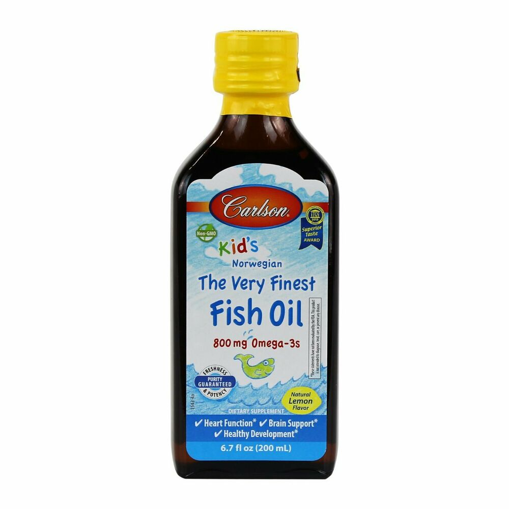 Carlson For Kids The Very Finest Fish Oil 200 Ml Great