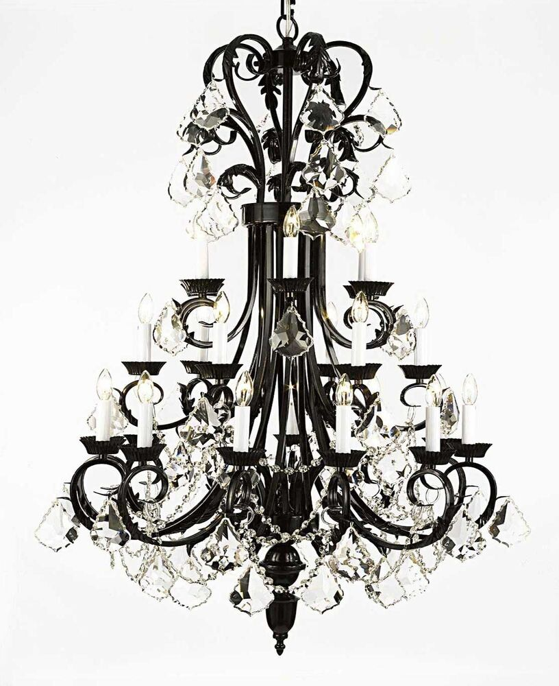 Large Entry Foyer Chandeliers : Large foyer entryway wrought iron chandelier quot inches