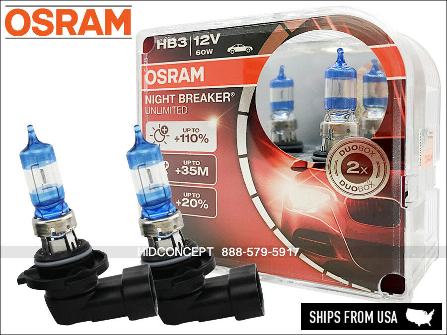 new osram night breaker unlimited 9005 hb3 halogen bulbs 60w 12v germany ebay. Black Bedroom Furniture Sets. Home Design Ideas