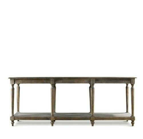 79 long britain console table solid oak weathered for Long sofa table 60