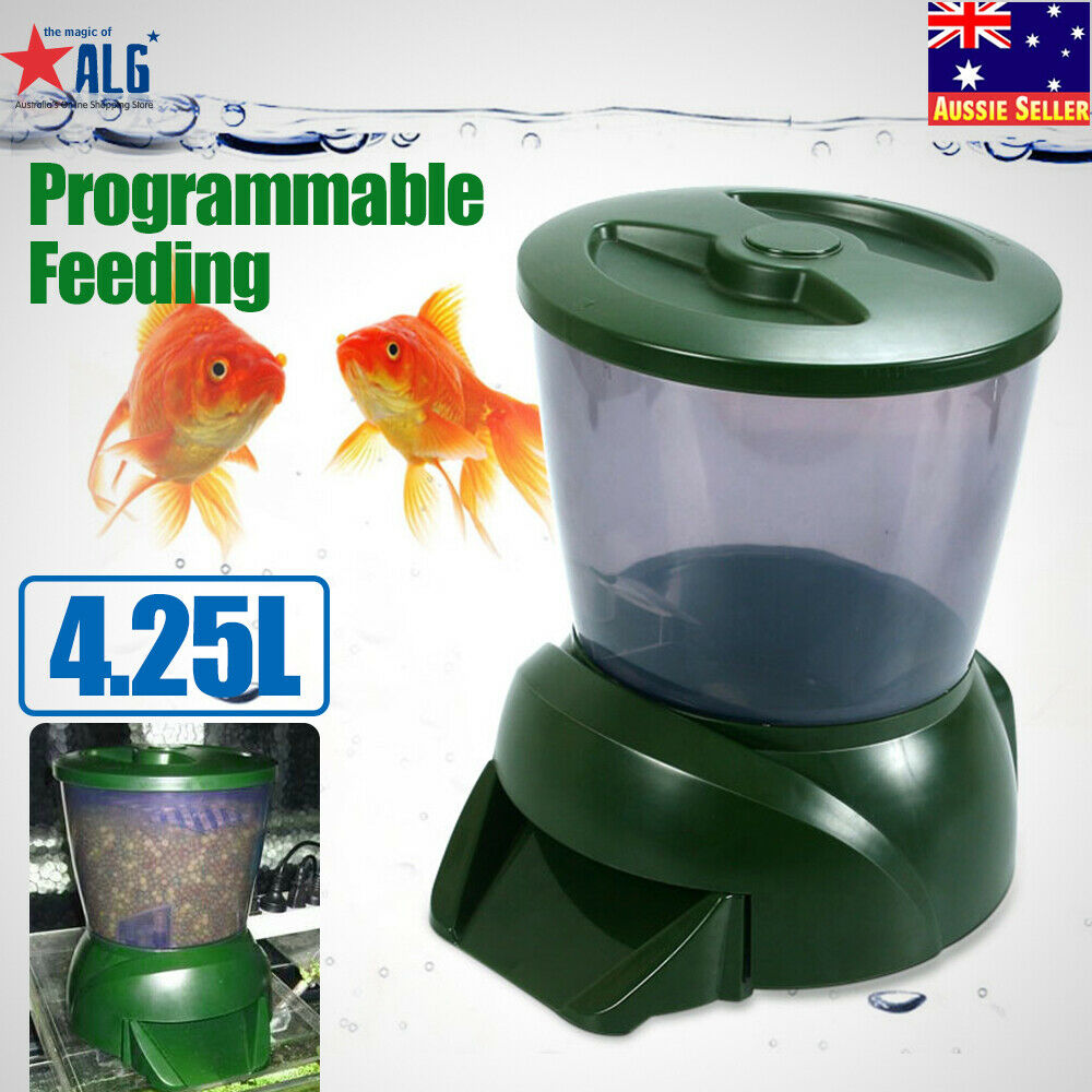 Big new automatic pond fish feeder digital tank pond for Automatic pond fish feeder