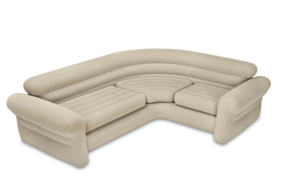 Intex Inflatable Corner Living Room Neutral Sectional Sofa Ep