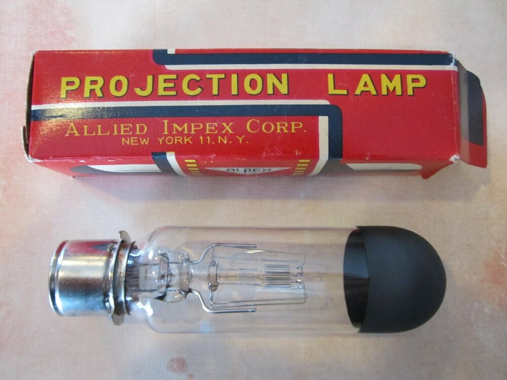 Vintage Alpex Allied Impex Corp Projector Projection Lamp