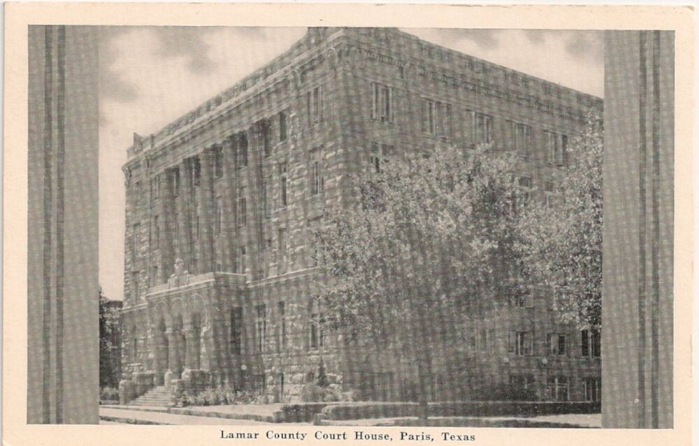 Lamar County Court House in Paris TX Postcard | eBay