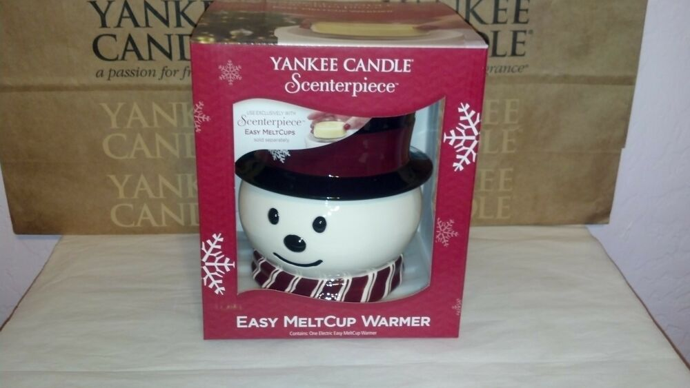 Yankee candle scenterpiece snowman holiday electric easy