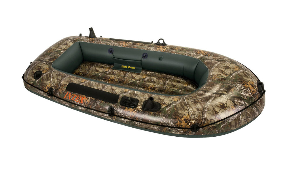 Intex realtree camo seahawk 2 inflatable boat fishing for Seahawk boat paint