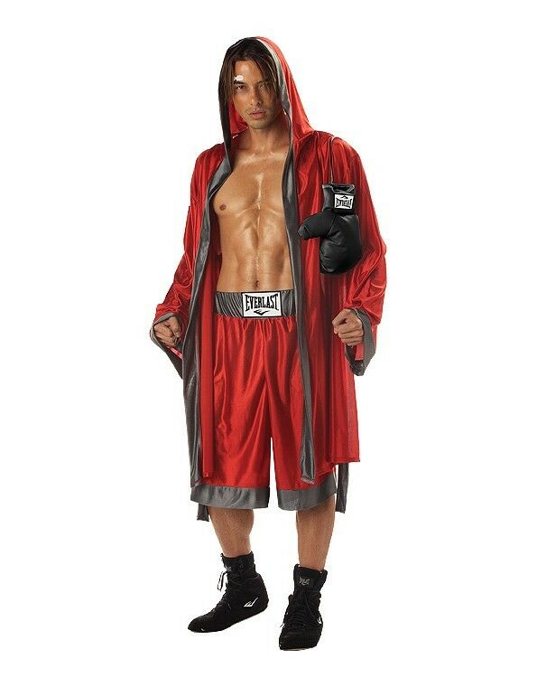 Adult everlast boxer kick boxing mma costume 3 sizes includes gloves