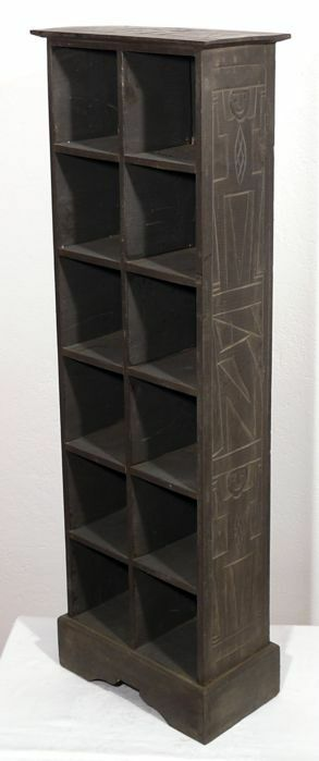 cd st nder cd rack holz krieger primitiv cd schrank 18 ebay. Black Bedroom Furniture Sets. Home Design Ideas