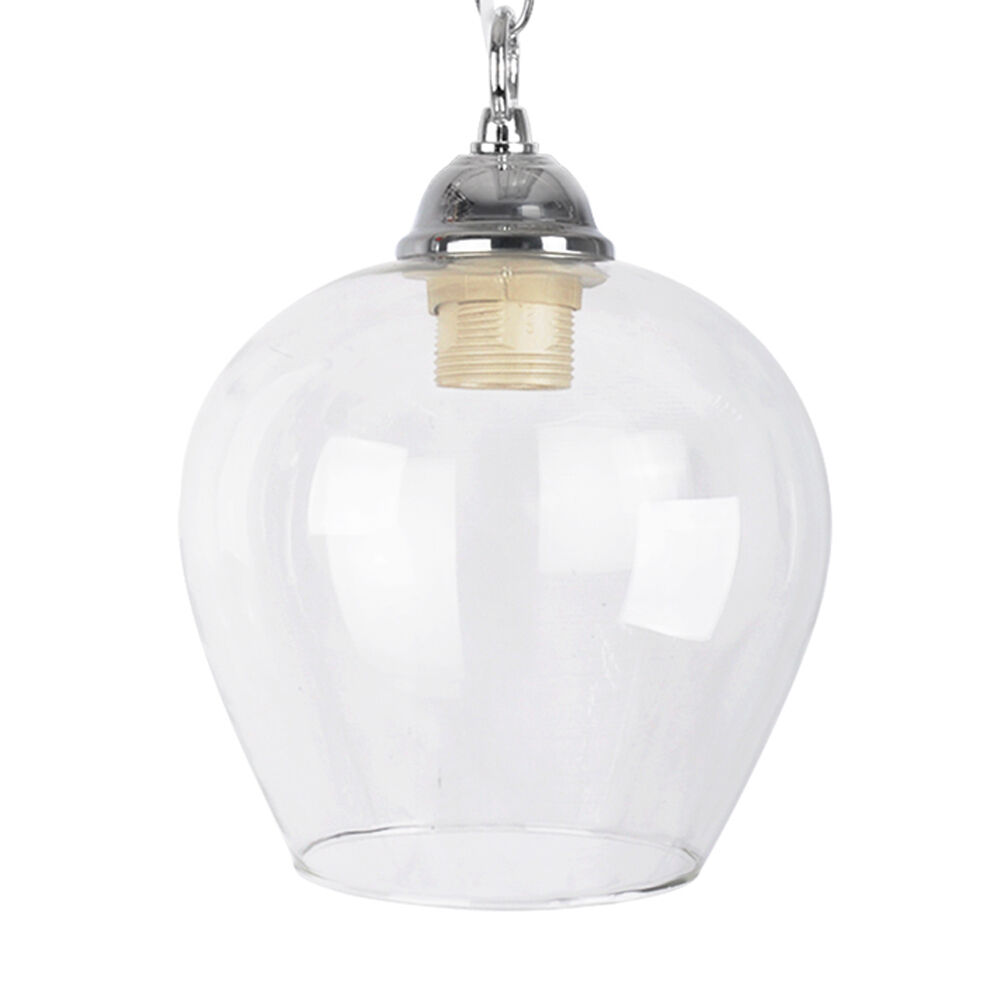 Lamp Shades For Ceiling Lights: Modern Clear Glass Ceiling Pendant Light Lamp Shade Lights
