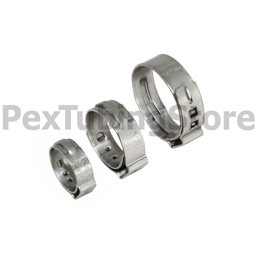Quot pex grip non slip stainless steel cinch clamps