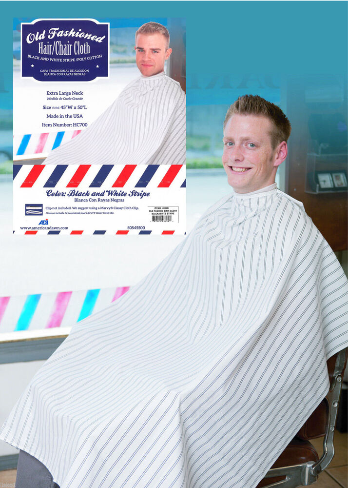 Old Fashion Hair Cutting Cloth Barber Cape Black Amp White