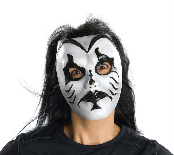 Black and white kiss of death adult costume mask ebay for Kiss mask template