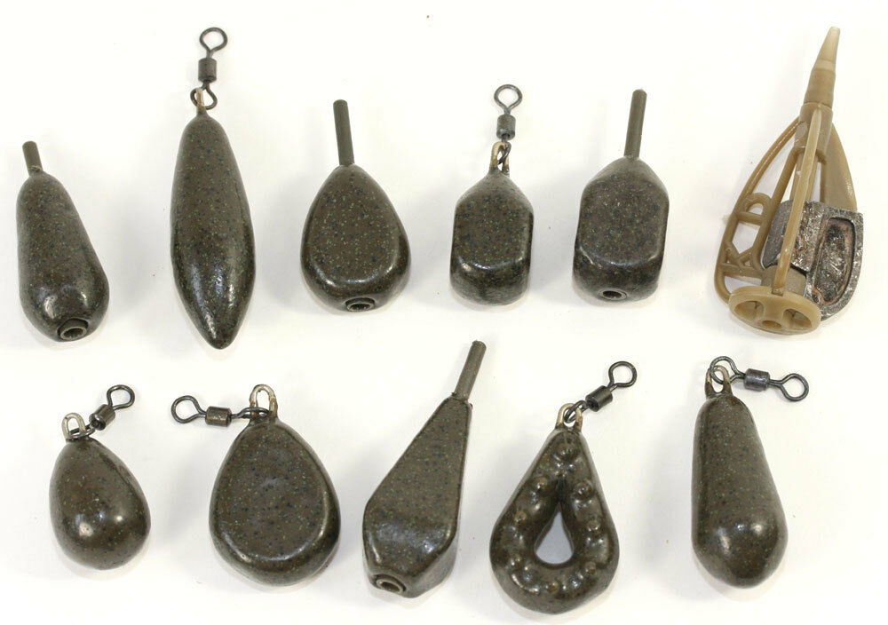 Korda carp leads weights all types and sizes available ebay for Types of fishing sinkers