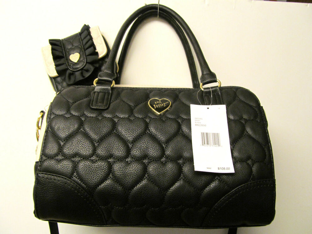 Betsey Johnson Betseyville Quilted Heart Tote Bag Wallet