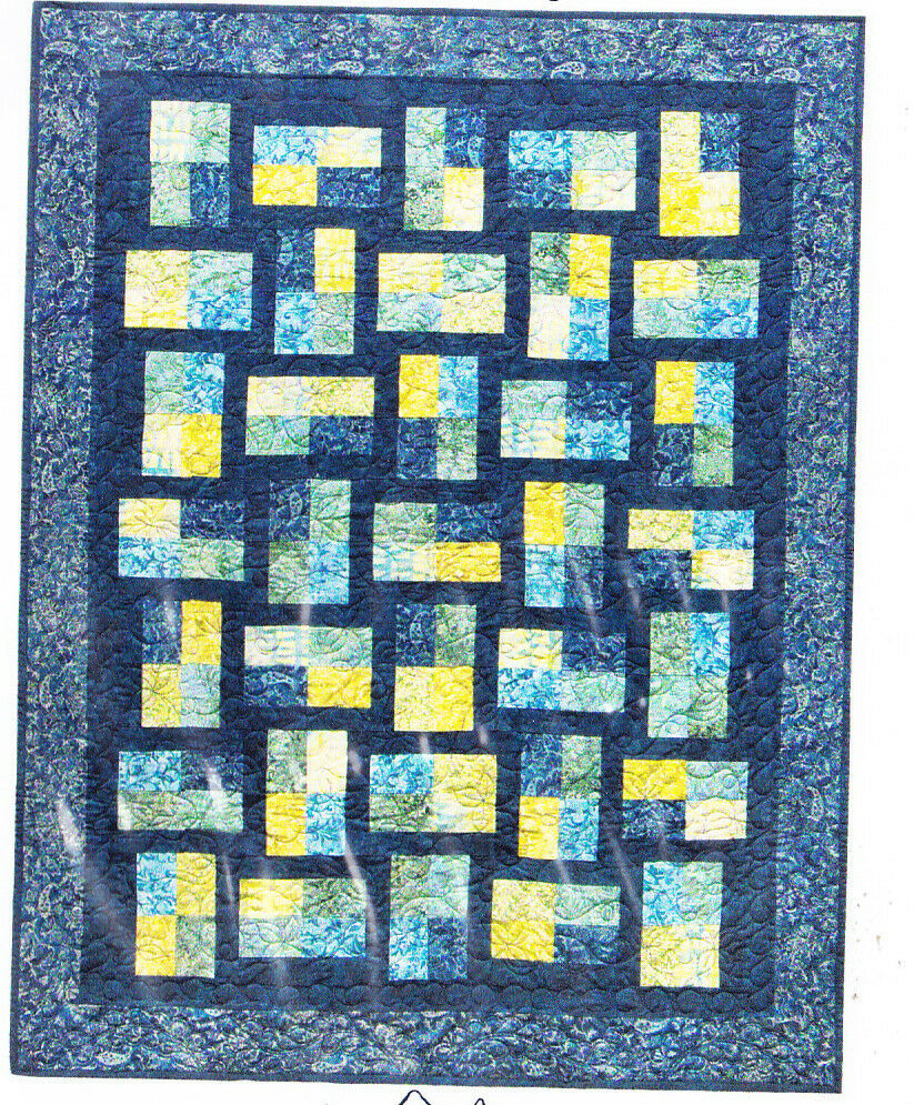 Free Pieced Baby Quilt Patterns : Fractions - Fabulous pieced quilt PATTERN - 5 size options - Mountainpeek eBay