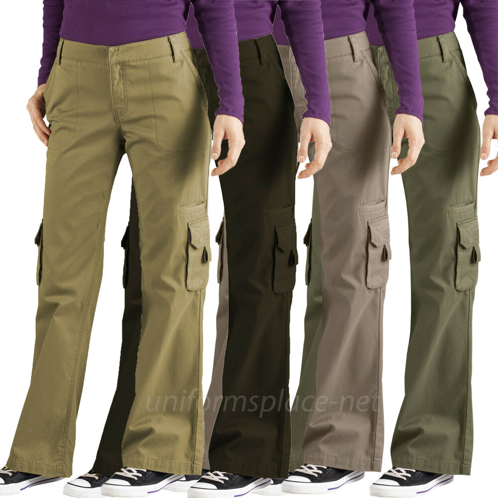 400be4818cd Details about Women s Cargo Pants Dickies Women Relaxed Fit Cargo Pocket  Pant FP777 Cotton