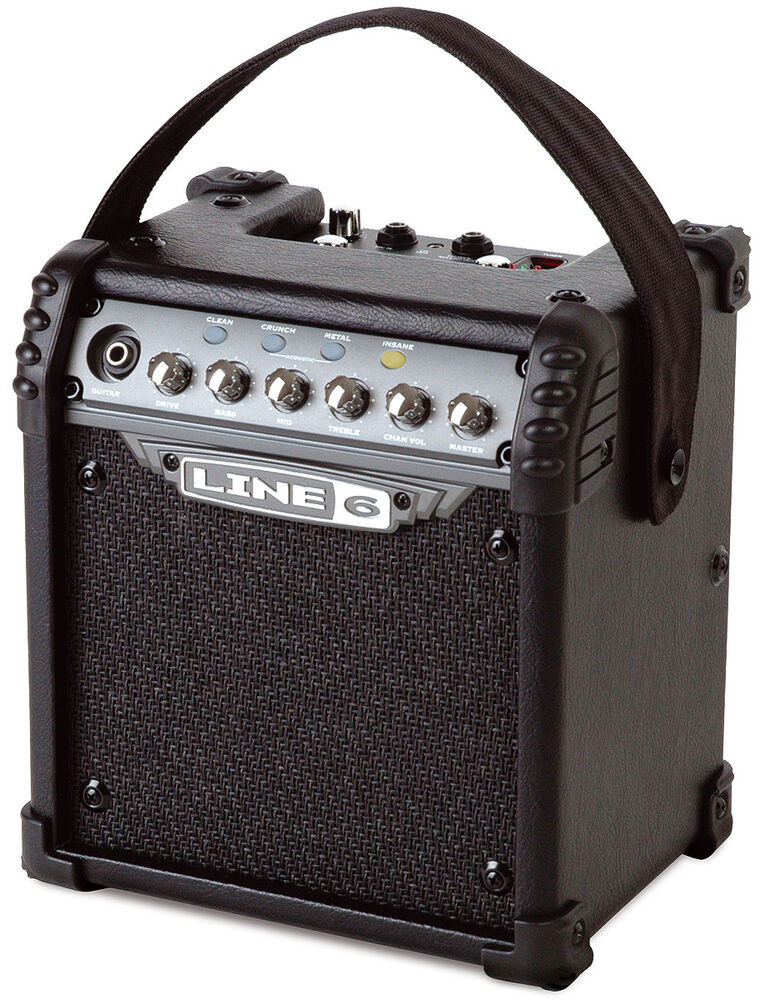 new line 6 micro spider portable 6 watt battery powered guitar amp amplifier 614252004626 ebay. Black Bedroom Furniture Sets. Home Design Ideas