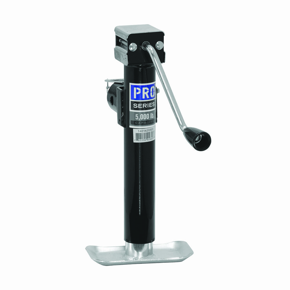 Pro Series Round Trailer Jack 5000 Lbs Sidewind Pipe Mount