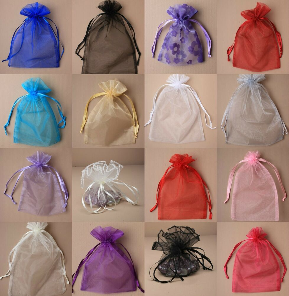 Gift Bags Wedding: 12 Organza Gift Bags Jewellery Candy Packing Pouches