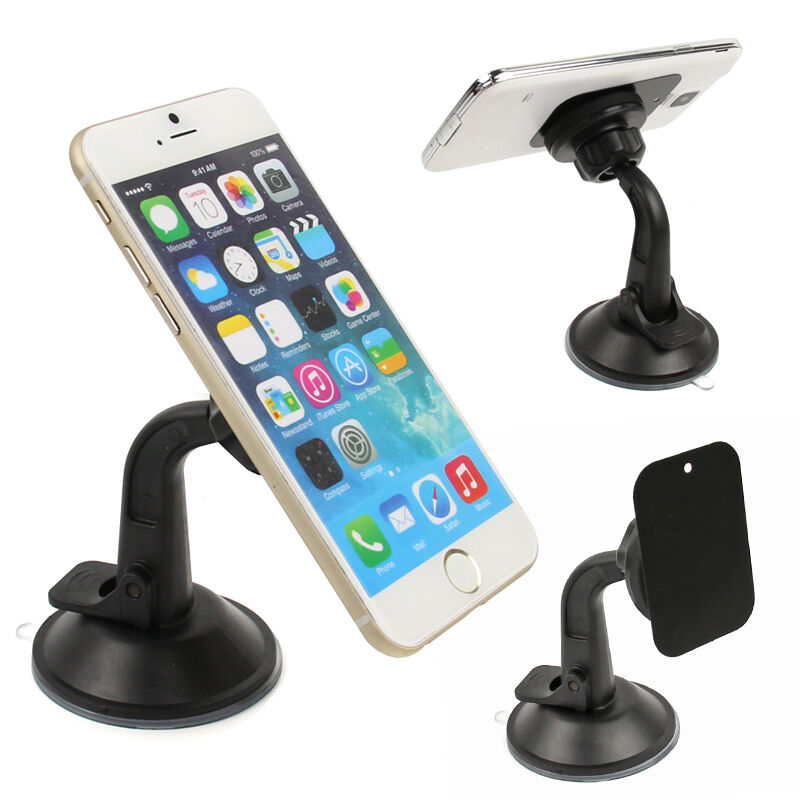 Universal 360 swivel in car windshield mount stand magnetic pad holder for phone ebay - Notepad holder for car ...