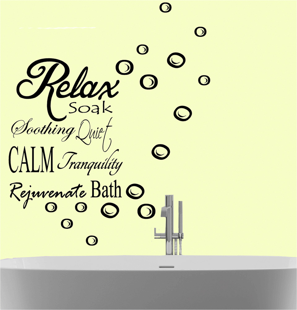 Relax Soak Bubbles Bath Quote Wall Art Sticker Decal Vinyl ...
