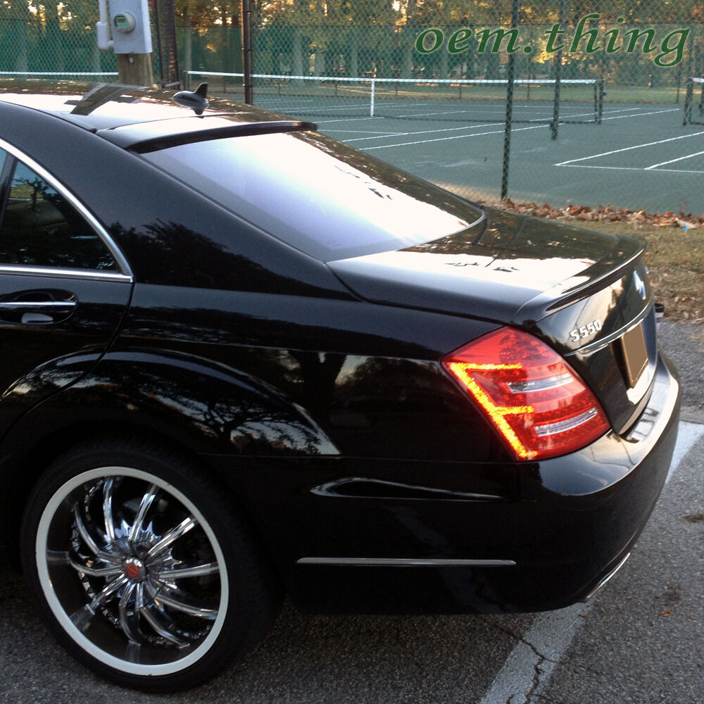 Painted mercedes benz s class w221 4dr rear trunk spoiler for Mercedes benz s550 accessories