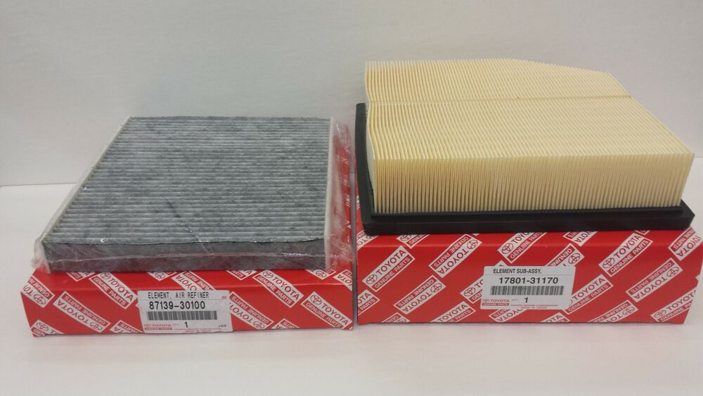 Lexus oem factory cabin filter and engine air filter set for Lexus is250 cabin air filter