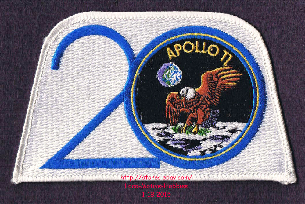 LMH PATCH Badge NASA APOLLO XI 11 Space Lunar Landing 20th ...