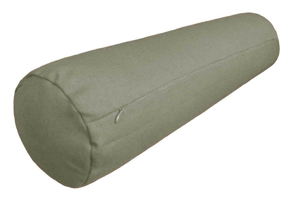 ccc a 36 light silver gray cotton canvas round bolster sofa seat cushion cover ebay. Black Bedroom Furniture Sets. Home Design Ideas