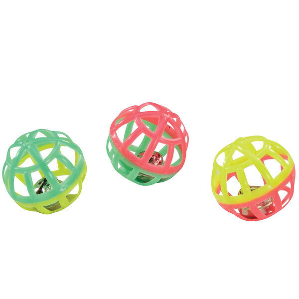 Cat Toys Balls : Lattice jingle balls bulk lots plastic w