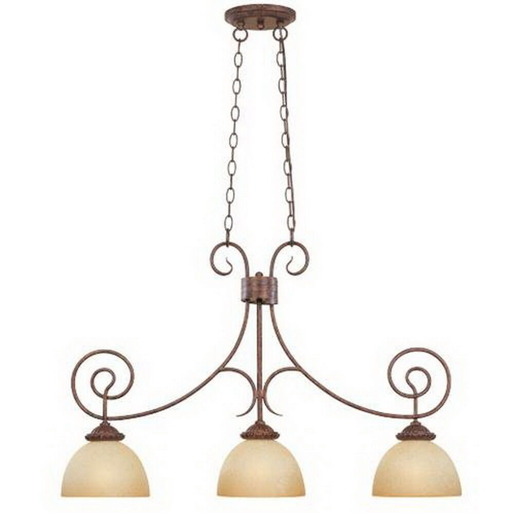 Venetian Bronze Chandelier: Aged Umber Bronze And Venetian Scavo Glass Chandelier