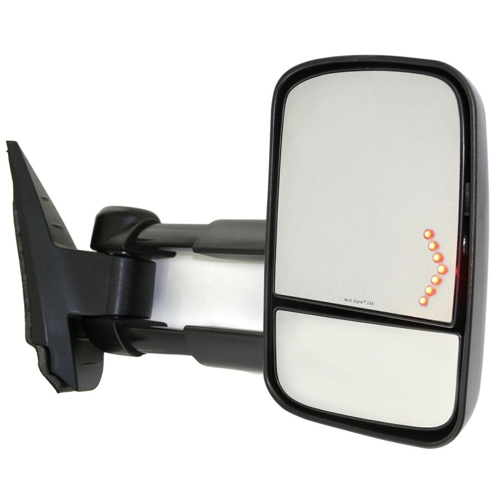 kool vue power towing mirror for 2007 2013 chevy silverado 1500 rh heated ebay. Black Bedroom Furniture Sets. Home Design Ideas