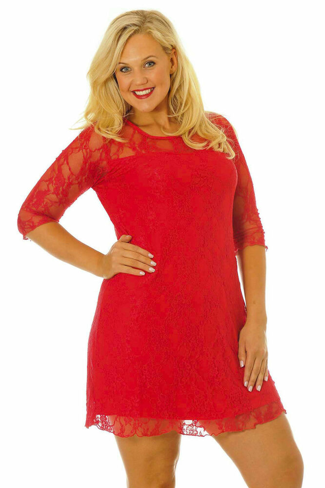 HD wallpapers plus size red lace skater dress