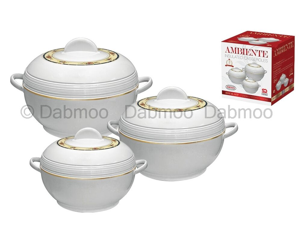 Insulated Food Warmers ~ Pc ambiente casserole set insulated food warmer round
