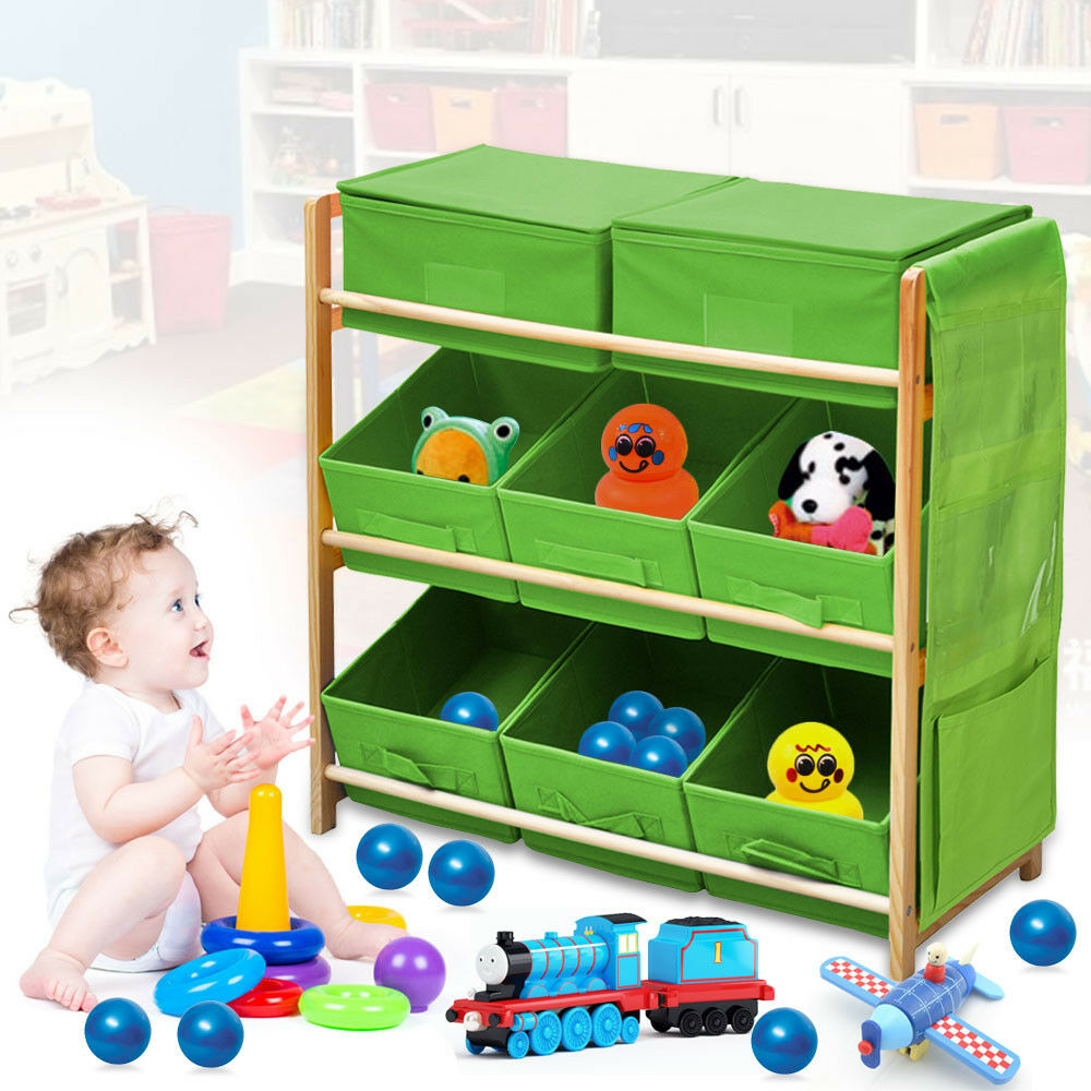 Childrens Kids 3 Tier Toy Bedroom Storage Shelf Unit Amp 8