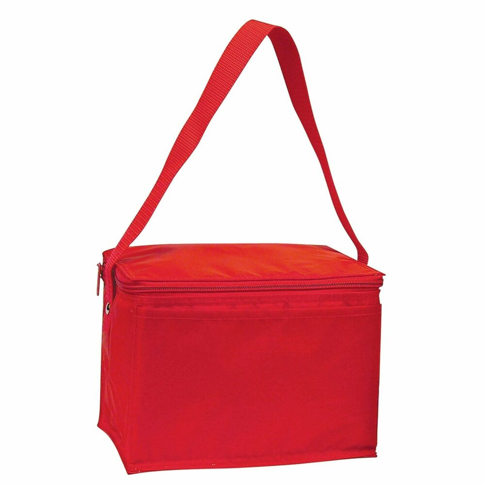 insulated 6 pack picnic cooler lunch bag box drinks