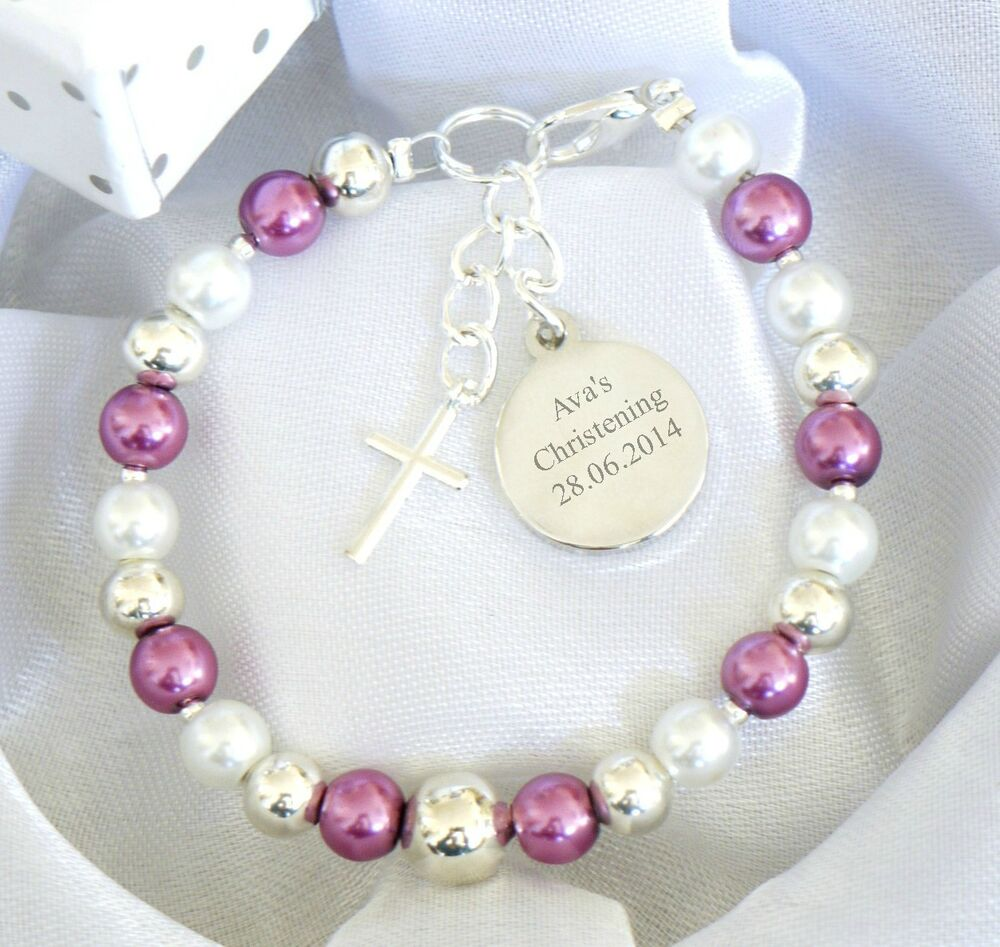Engraved Charms For Bracelets: Girls Boys Personalised First Holy Communion Christening