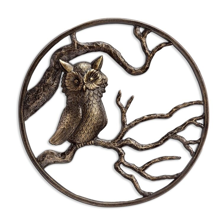 Owl Garden Wall Art Hanging Decor Metal Hoot Owl Bird