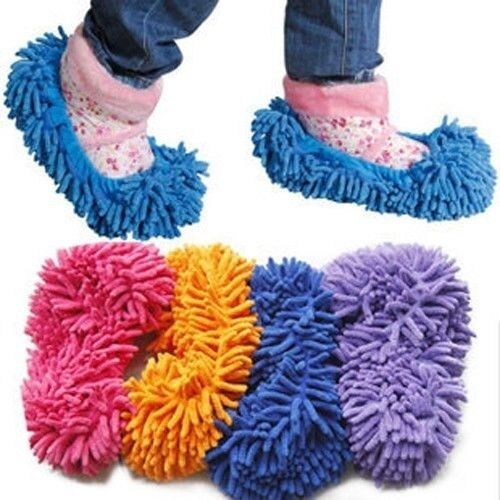 Mop Slippers Dusting Cleaning Foot Socks Shoe Lazy Quick