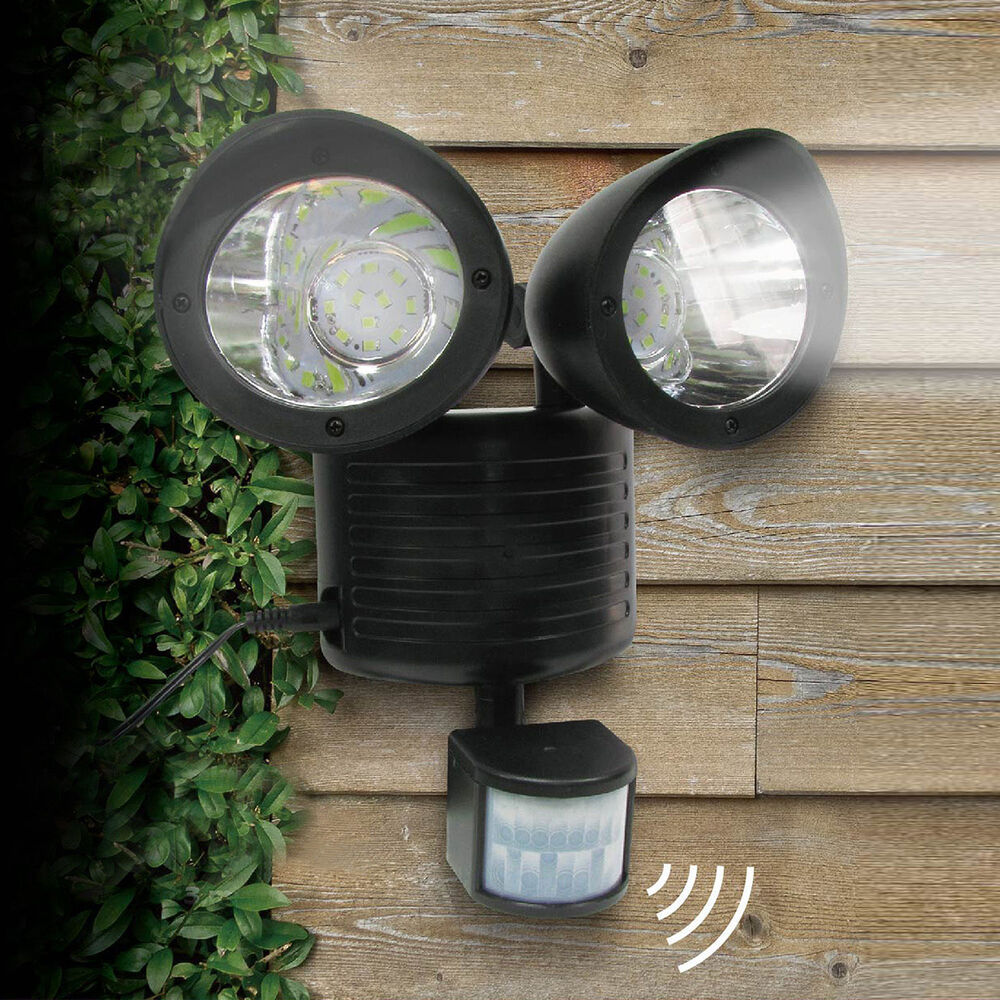 Outdoor Security Lights Pir: Dual Security Detector Solar Spot Light Motion Sensor