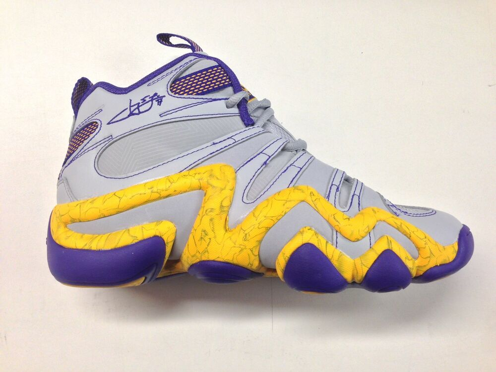 size 40 17f92 7e655 Details about Adidas Kobe Crazy 8 Jeremy Lin Grey Yellow Purple Lakers  Sneakers C77701 1702-92
