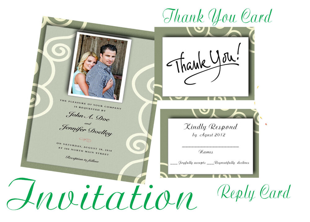 photoshop templates psd for wedding invitation vol 3 ebay. Black Bedroom Furniture Sets. Home Design Ideas
