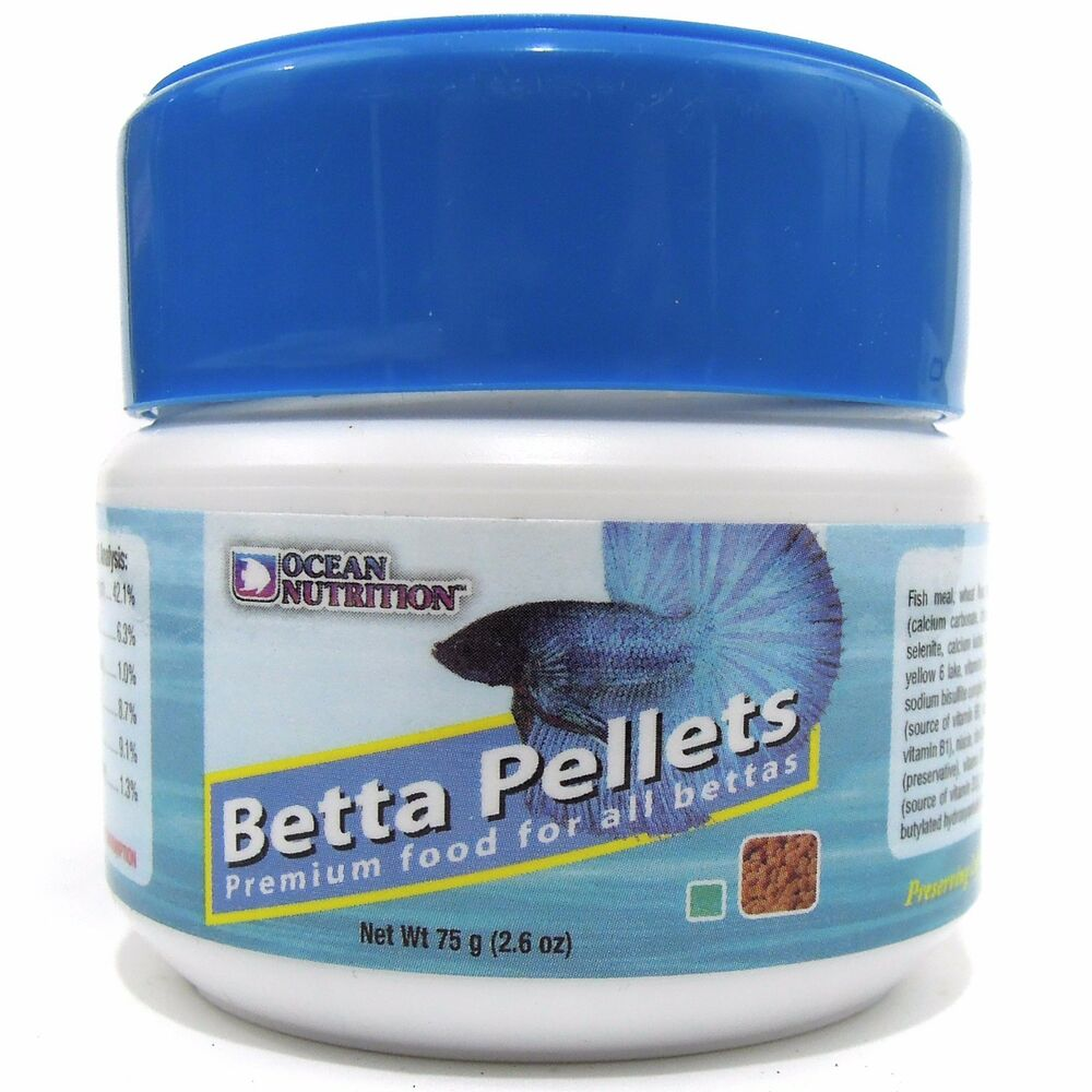 Ocean nutrition betta food pellets 75g ebay for Betta fish pellets