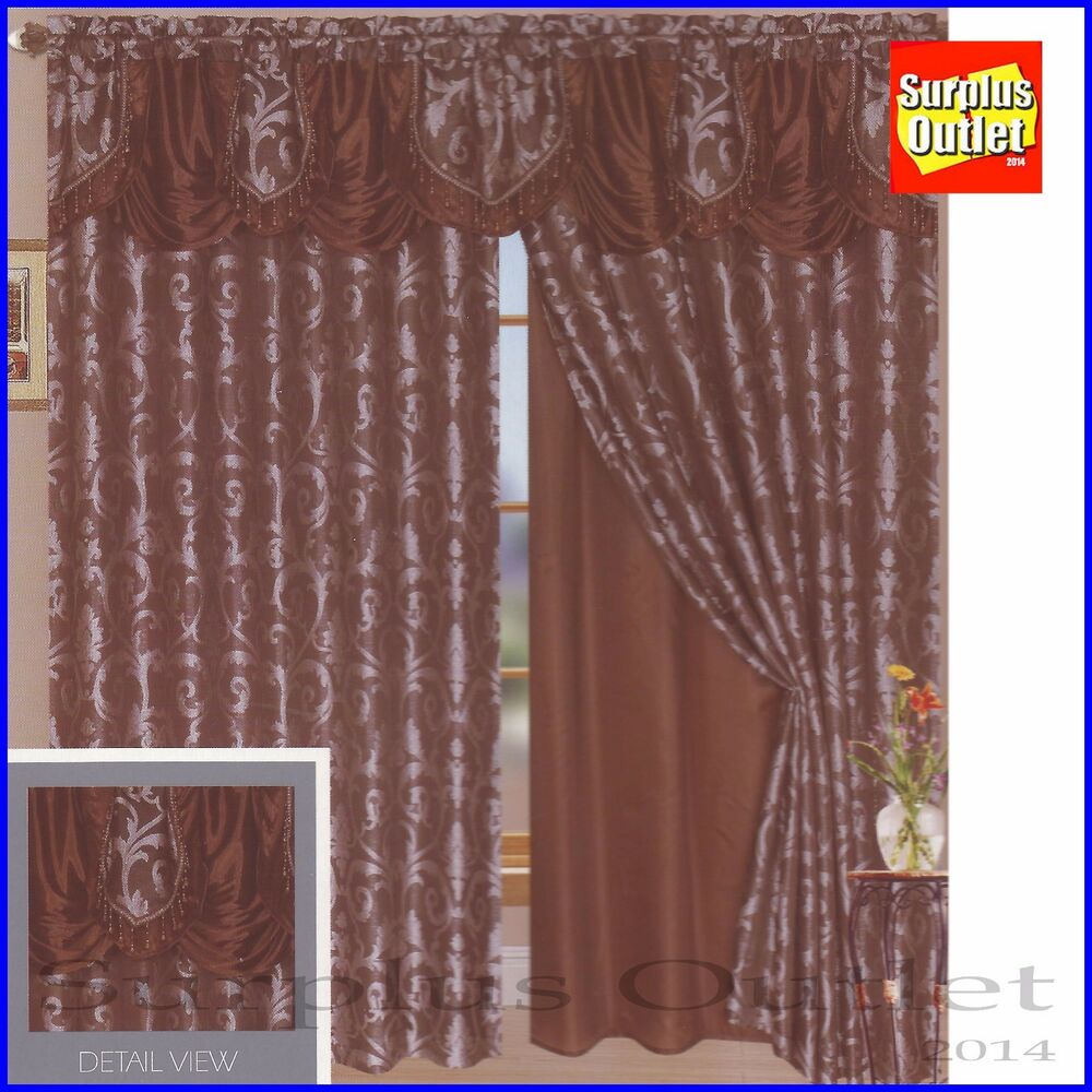 Window curtain tiffany luxury lined curtain set valance window treatment 2 panel ebay - Clever window curtain ideas matched with interior atmosphere and concept ...