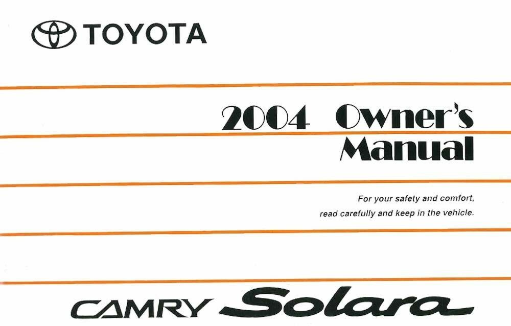 2004 toyota camry solara owners manual user guide reference operator book fus. Black Bedroom Furniture Sets. Home Design Ideas