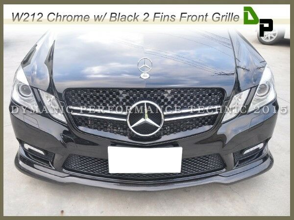 E63amg look front grille for mercedes benz w212 e class for Mercedes benz grills